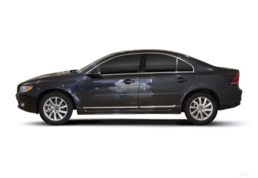 VOLVO S80 V sedan brązowy boczny lewy