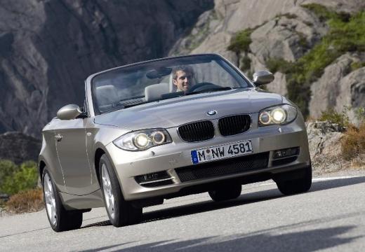 BMW Seria 1 kabriolet beige przedni prawy