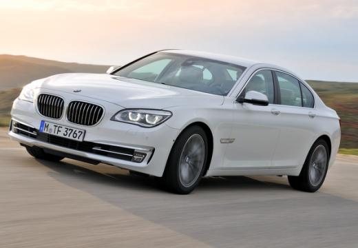 BMW Seria 7 sedan biały przedni lewy