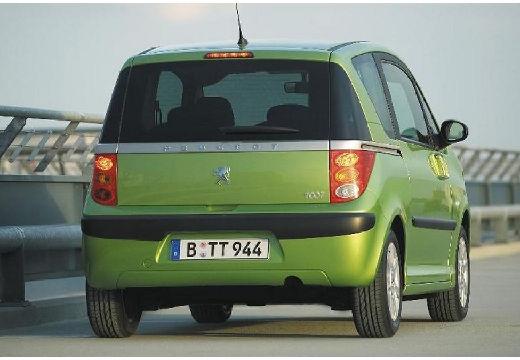 PEUGEOT 1007 hatchback zielony tylny prawy