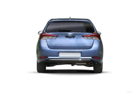 Toyota Auris II hatchback niebieski jasny tylny
