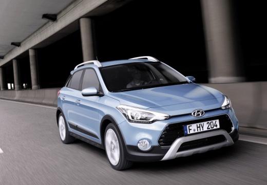 HYUNDAI i20 hatchback niebieski jasny przedni prawy