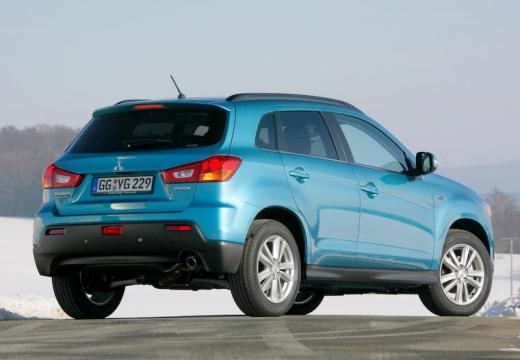 MITSUBISHI ASX I hatchback niebieski jasny tylny prawy