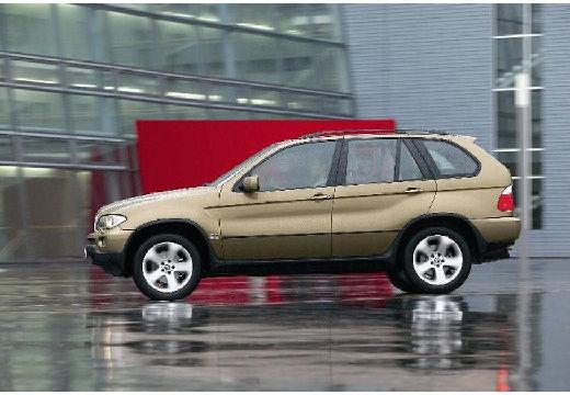 BMW X5 kombi złoty boczny lewy