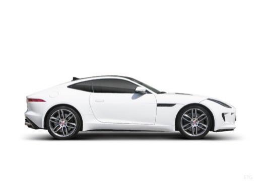 JAGUAR F-Type I coupe biały boczny prawy