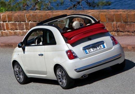 FIAT 500 C I kabriolet czerwony jasny tylny lewy