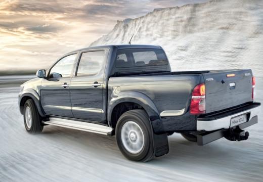 Toyota HiLux V pickup szary ciemny tylny lewy