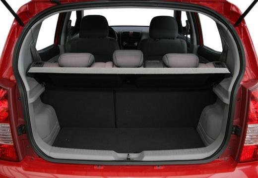 KIA Picanto I hatchback przestrzeń załadunkowa