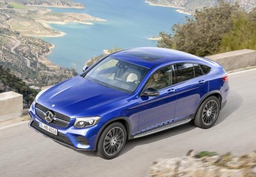 MERCEDES-BENZ Klasa GLC GLC Coupe C 253 I hatchback niebieski jasny górny przedni