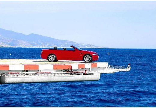 BMW Seria 3 kabriolet czerwony jasny boczny prawy