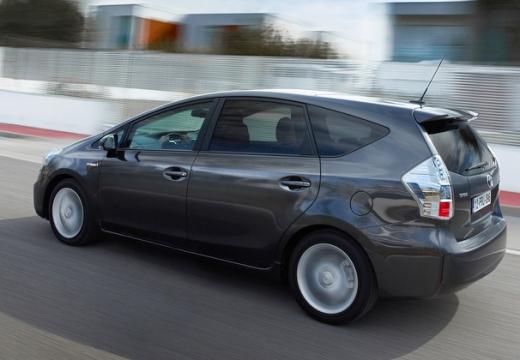 Toyota Prius kombi silver grey tylny lewy