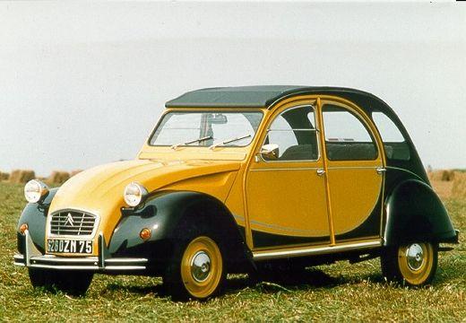 CITROEN 2 CV I sedan żółty przedni lewy