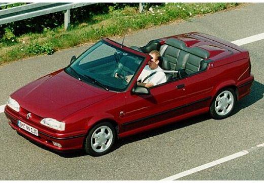 RENAULT R19 kabriolet bordeaux (czerwony ciemny) przedni lewy