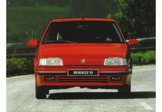 RENAULT R19 sedan czerwony jasny przedni