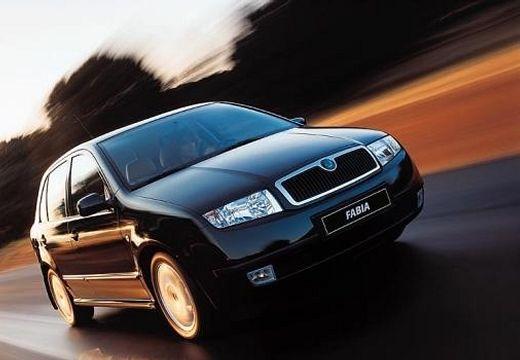 SKODA Fabia II hatchback czarny przedni prawy