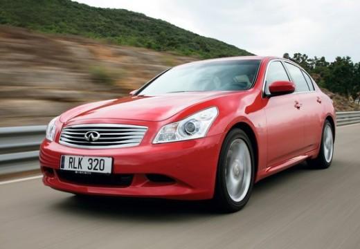 INFINITI G37 sedan czerwony jasny przedni lewy