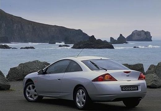 FORD Cougar I coupe silver grey tylny lewy