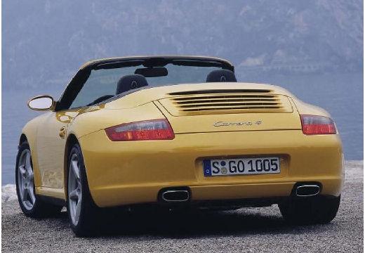 PORSCHE 911 Cabrio 997 kabriolet żółty tylny lewy
