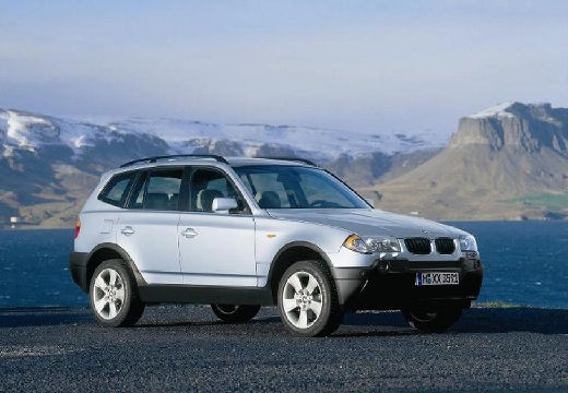 BMW X3 X 3 E83 I kombi silver grey przedni prawy