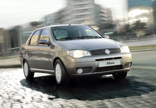 FIAT Albea sedan silver grey przedni prawy