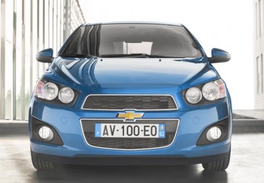 CHEVROLET Aveo hatchback niebieski jasny przedni