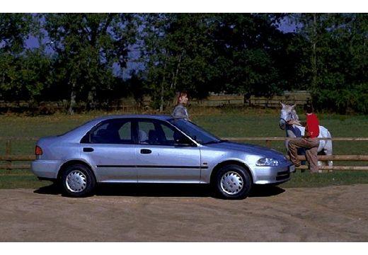 HONDA Civic II sedan silver grey boczny prawy