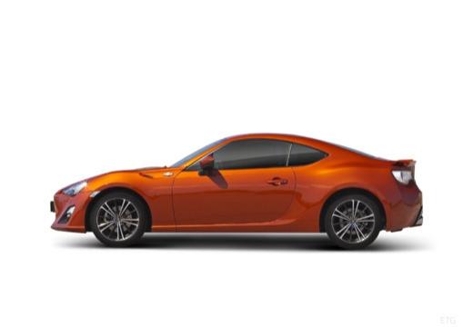Toyota GT86 I coupe pomarańczowy boczny lewy