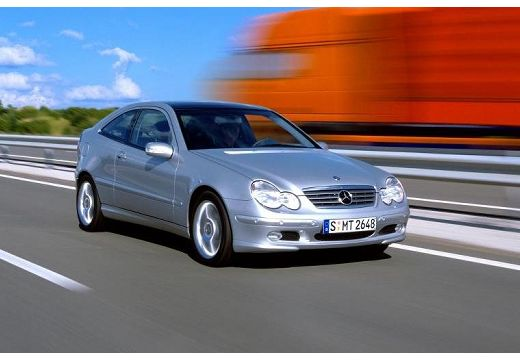 MERCEDES-BENZ Klasa C Sport CL203 I coupe silver grey przedni prawy