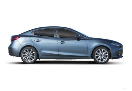 MAZDA 3 V sedan niebieski jasny boczny prawy