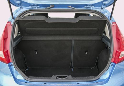 FORD Fiesta VII hatchback niebieski jasny przestrzeń załadunkowa