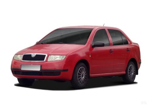 SKODA Fabia I sedan czerwony jasny przedni lewy