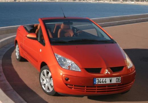 MITSUBISHI Colt kabriolet pomarańczowy przedni prawy
