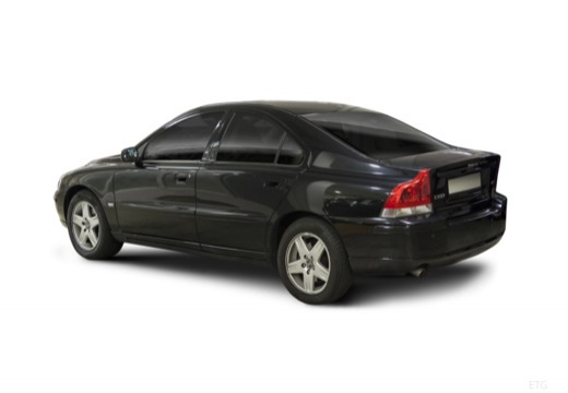 VOLVO S60 II sedan czarny tylny lewy