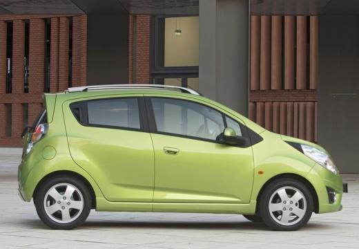 CHEVROLET Spark II hatchback zielony boczny prawy