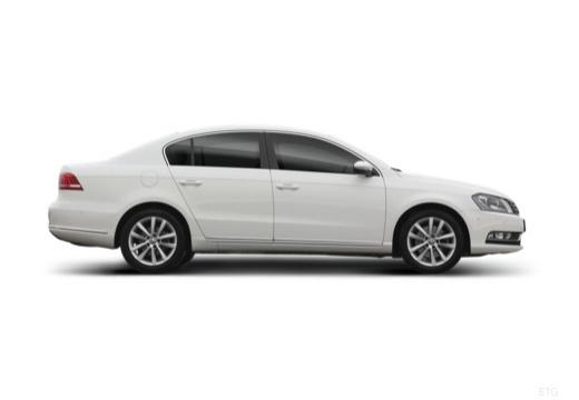 VOLKSWAGEN Passat VI sedan biały boczny prawy