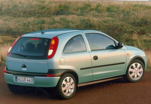 OPEL Corsa hatchback zielony jasny tylny prawy