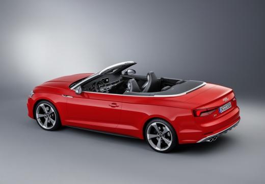 AUDI A5 kabriolet czerwony jasny górny tylny