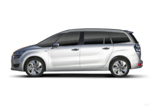 CITROEN C4 Picasso C4 Grand Picasso III kombi silver grey boczny lewy