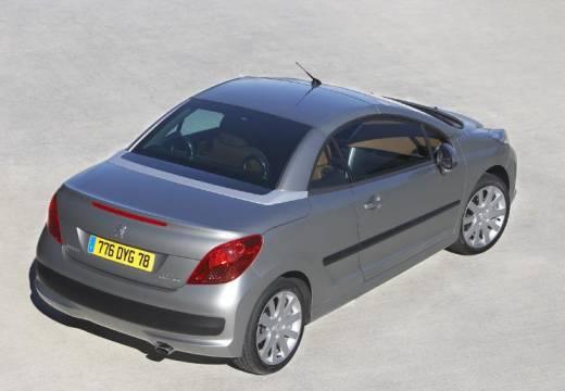 PEUGEOT 207 kabriolet silver grey tylny prawy