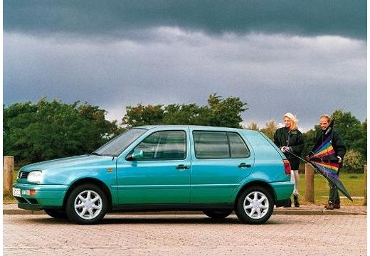 VOLKSWAGEN Golf III hatchback zielony jasny przedni lewy
