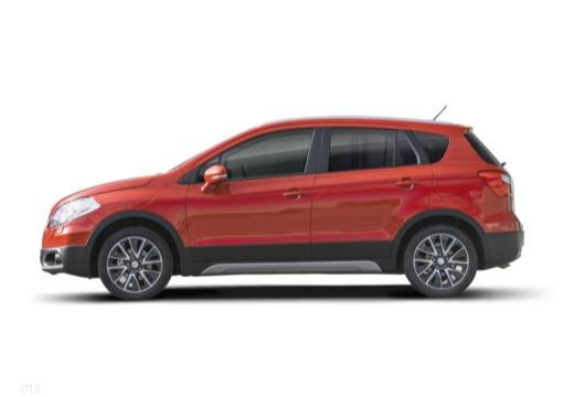 SUZUKI SX4 S-cross I hatchback czerwony jasny boczny lewy