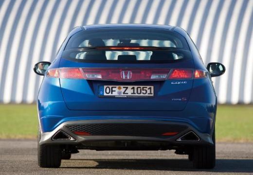 HONDA Civic VI hatchback niebieski jasny tylny
