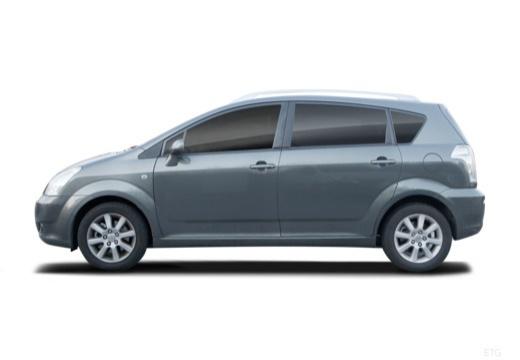 Toyota Corolla Verso II kombi mpv boczny lewy