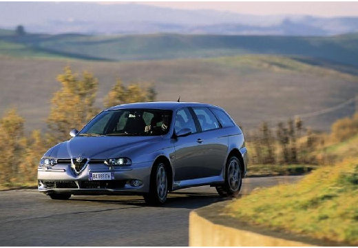 ALFA ROMEO 156 kombi silver grey przedni lewy