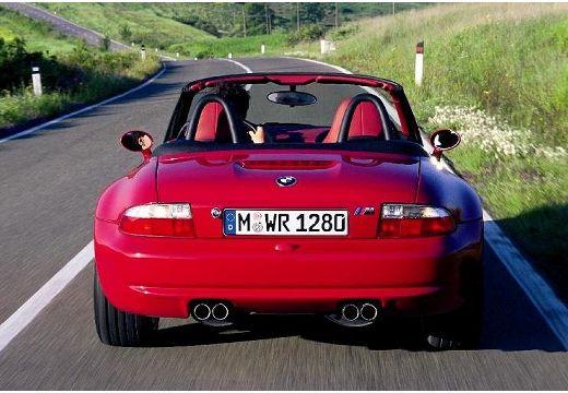 BMW Z3 roadster czerwony jasny tylny