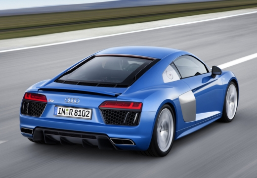 AUDI R8 coupe niebieski jasny górny tylny