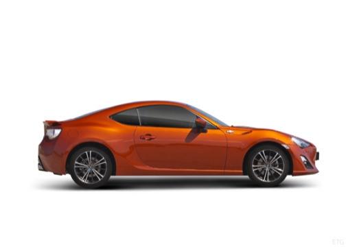 Toyota GT86 I coupe pomarańczowy boczny prawy