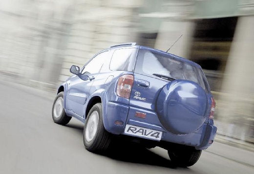 Toyota RAV4 II kombi niebieski jasny tylny lewy