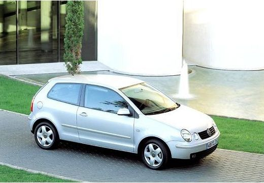 VOLKSWAGEN Polo IV I hatchback silver grey przedni prawy