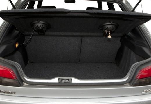 PEUGEOT 306 II hatchback przestrzeń załadunkowa